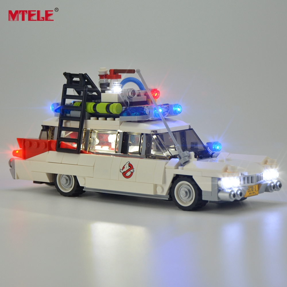 MTELE Led Light Kit For Ghostbusters Ecto-1 Lighting Set Compatible With 21108 (Not Include The Model)
