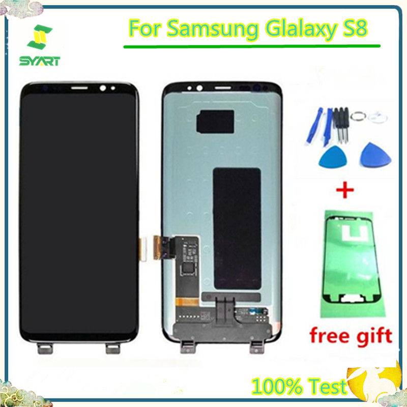 5.8 inch Super AMOLED LCD Display Touch Screen Digitizer Assembly Without Frame For <font><b>Samsung</b></font> <font><b>Galaxy</b></font> <font><b>S8</b></font> <font><b>G950</b></font> G950F image