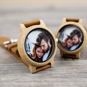 Image 3 - Creative Personality Lovers Watches UV Printing Photos Customers Bamboo Watch Customization Print OEM Great Gift for Love OEM