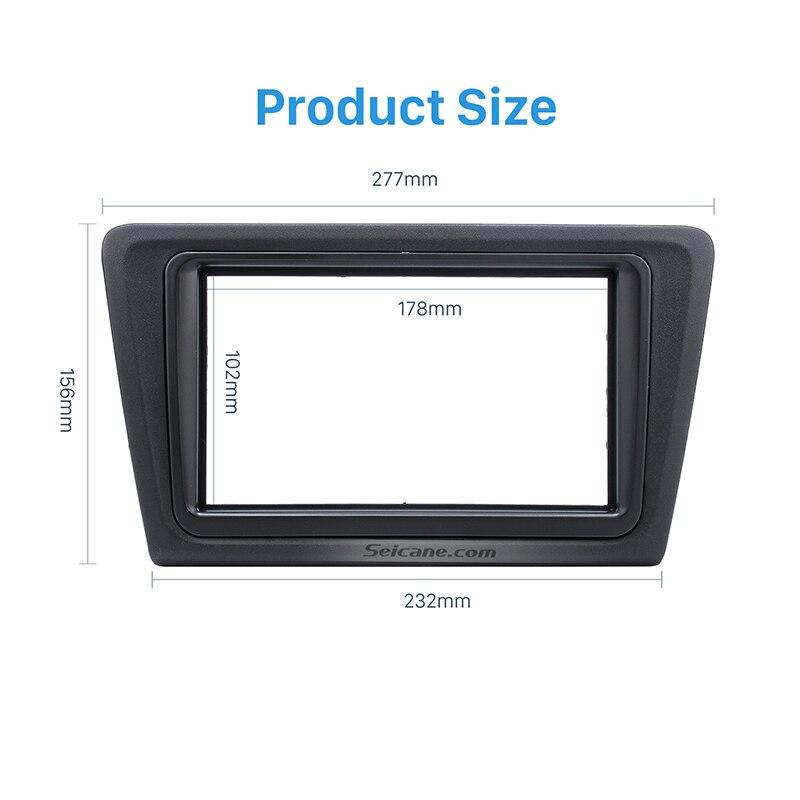 Seicane Black Double Din font b Car b font Stereo Fascia Kit for 2013 Skoda Rapid