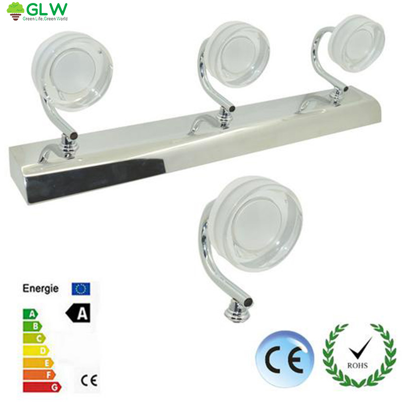 ФОТО GLW LED Vanity Light Modern led mirror light waterproof wall lamp Sconces AC110V 220V Acrylic Wall Mounted Bathroom with Switch