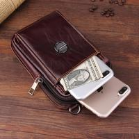 Genuine Leather Pouch Shoulder Belt Mobile Phone Case Bag For Huawei Honor 8 Pro Lite,P Smart Z,Google Pixel 3a XL,Oneplus 7 Pro