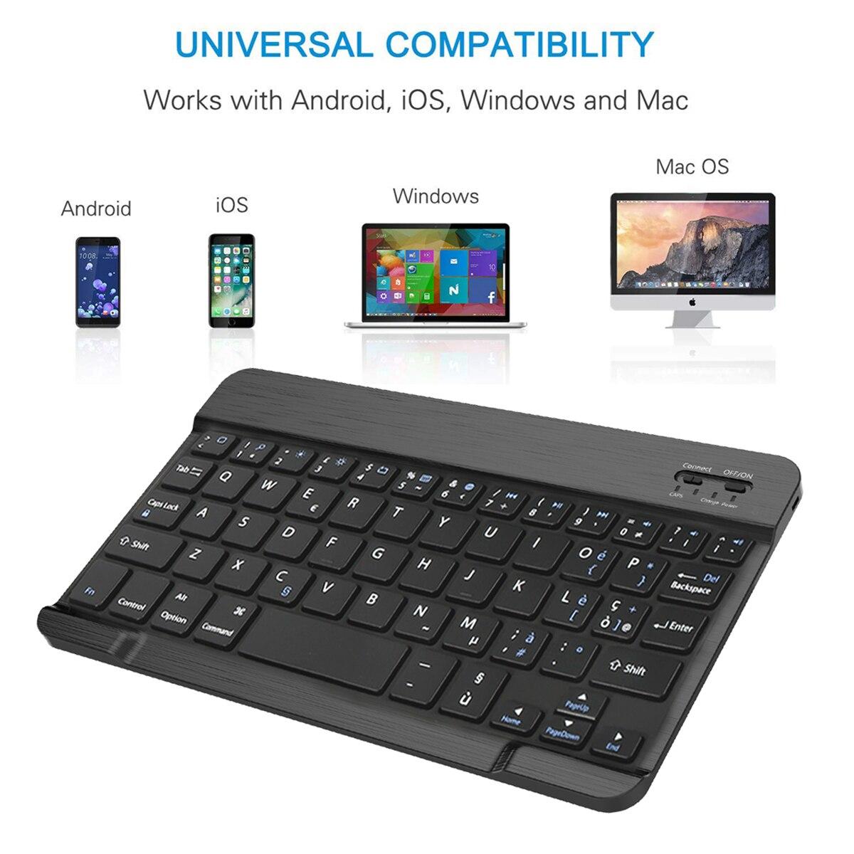 תאורה אחורית עבור Samsung Galaxy Tab 10.5 A2 T595 T590 להפרדת Tablet Bluetooth עם תאורה אחורית אלחוטי עור מקלדת המקרה הייחודי Stripe (5)