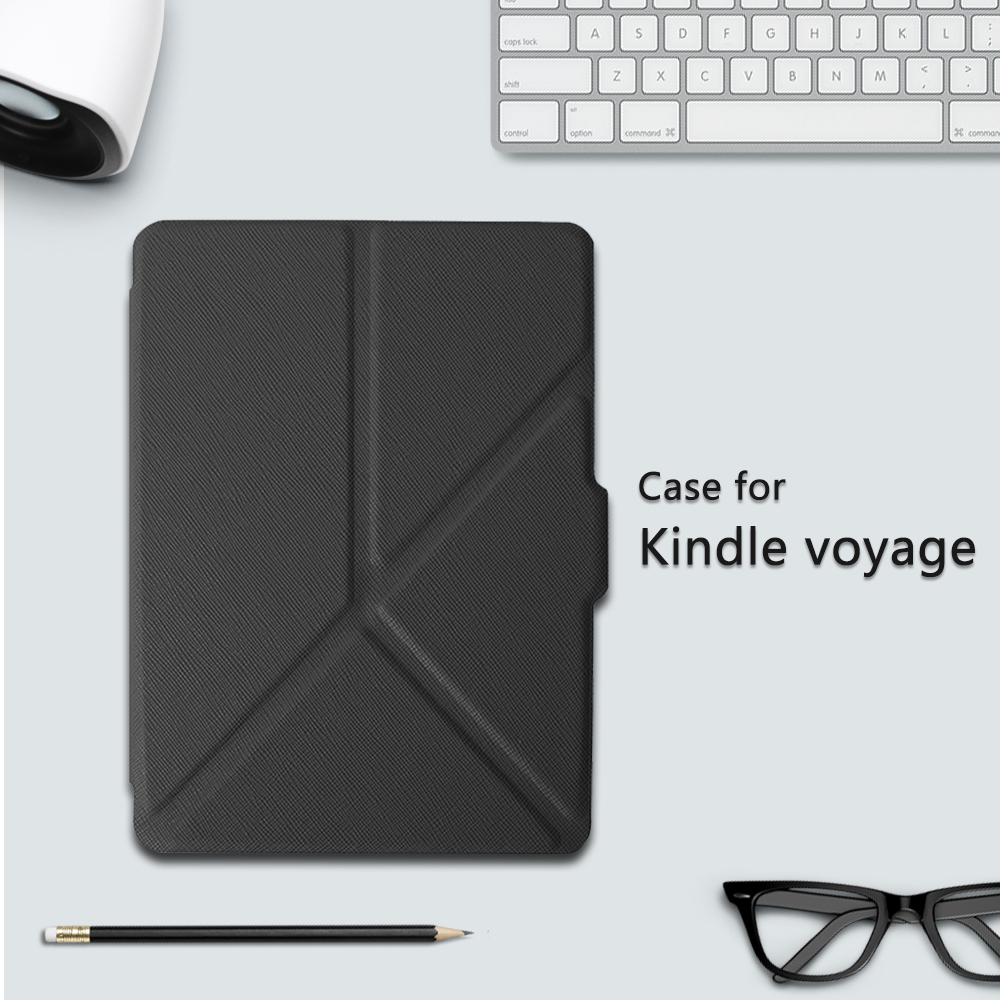 Cover Case for Amazon Kindle Voyage 6 inch eReader Transformer PU Leather Case + Screen Protector film + Stylus Pen ultra thin smart flip pu leather cover for lenovo tab 2 a10 30 70f x30f x30m 10 1 tablet case screen protector stylus pen