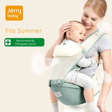 Jerrybaby Ergonomic Baby Carrier Breathable Newborn Sling Backpack Pouch Wrap Kangaroo For 0-36 Months Summer