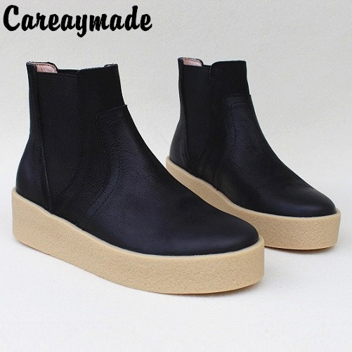 Careaymade Department of ancient art leather shoes handcrafts leisure winter boots Ladies Ankle Boots Anti slip