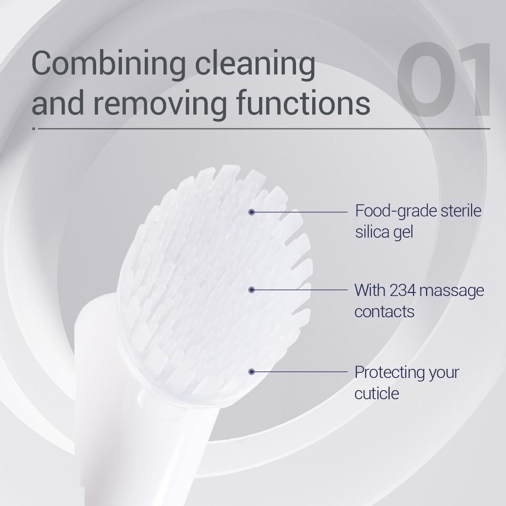 купить!  BAIMISS Очищающая щетка для лица + моющее средство с аминокислотами Мусс Глубокое мытье лица Увлажне Луч