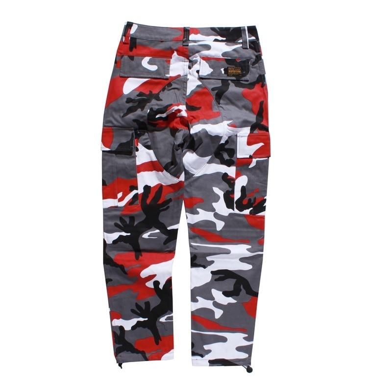 GONTHWID Color Camo Cargo Pants 2019 Mens Fashion Baggy Tactical Trouser Hip Hop Casual Cotton Multi Pockets Pants Streetwear