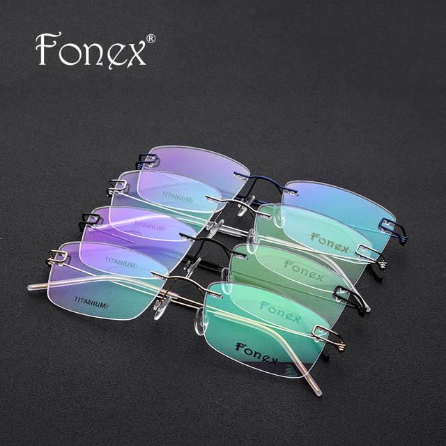 f23038286ed Screwless Eyewear Korean Glasses Frame Men 2018 Ultralight Prescription  Titanium Eyeglasses Women Rimless Denmark Optical Frames
