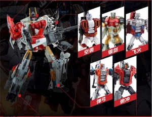 Transformation ko new design bruticus Devastator Defender Superion figure toys(China)
