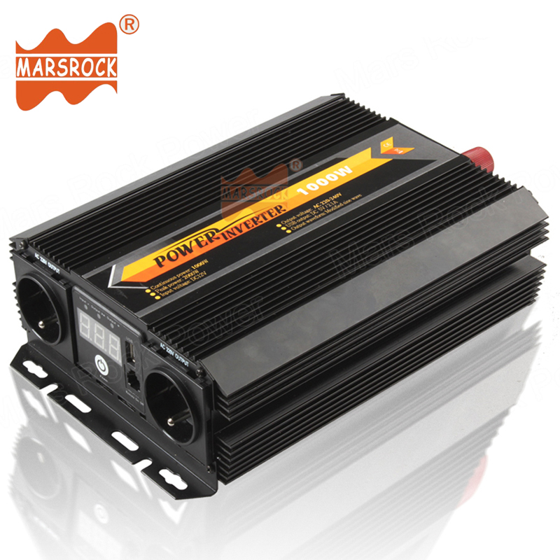 Car Home Use 1000W 12V 24V 220V AC Off Grid Modified Sine Wave Power Inverter with LED Display Remote Control Switch USB Charger dc 12v led display digital delay timer control switch module plc automation new