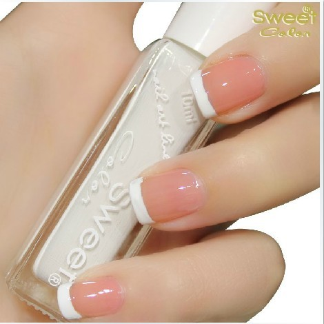 Sweet color eco-friendly nail polish oil classic french style nail art supplies pull pen white 10ml series