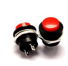 100ピース/ロットR13 507赤/グリーンラウンドキャップリセットスイッチ16ミリメートル3A 250v ac非ロックプッシュボタンスイッチジョグスイッチ
