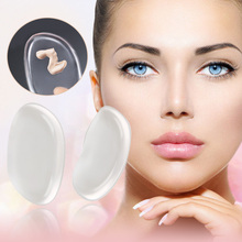 2pcs/pack Soft Silicone Gel Puff Transparent Makeup Powder Foundation Blush BB Cream Sponge Beauty Makeup Tool
