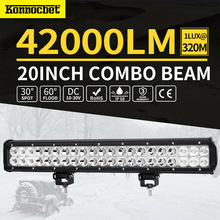 126W 20 inch LED Work Light Bar Combo Fog Driving Lamp Offroad For Jeep SUV 4wd LED Light Bar Waterproof 4x4 Of Road Car Auto