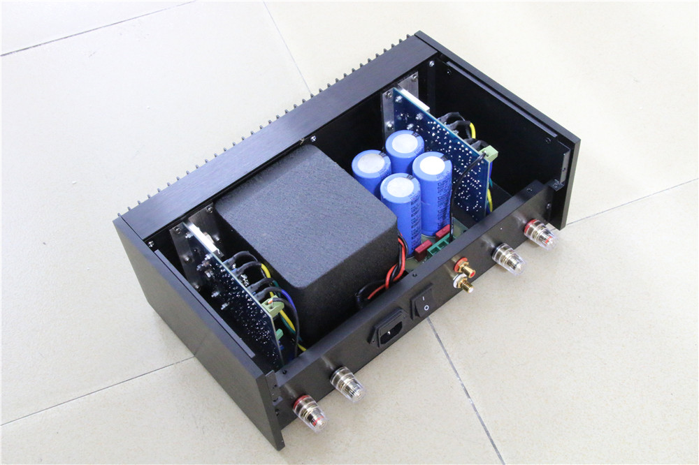US $223 2 10% OFF|SENGTERBELLE Clone Classic QUAD 405 Power Amplifier HIFI  Audio amp 100W+100W Finished Amplifier ONSEMI MJ15024-in Amplifier from