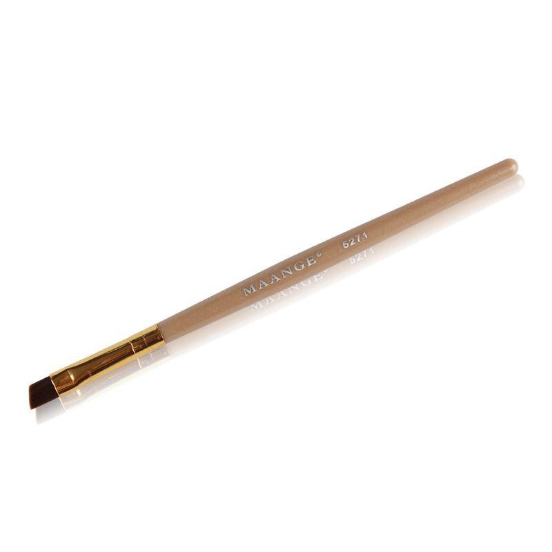 Eyeliner Eyebrow Brush Makeup Brush Bamboo Oblique Head Brush Pro Eye Liner Eye Brow Brush Cosmetic Makeup Tools in Eye Shadow Applicator from Beauty Health