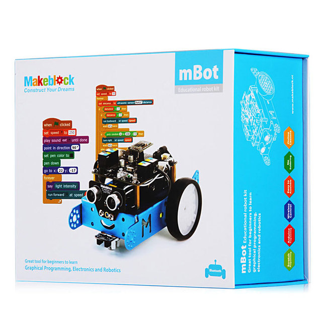 Bluetooth Makeblock Mbot Programmable Kids Toys Educational Scratch 2.0 Arduino DIY Smart Robot Car Kit birthday Gift
