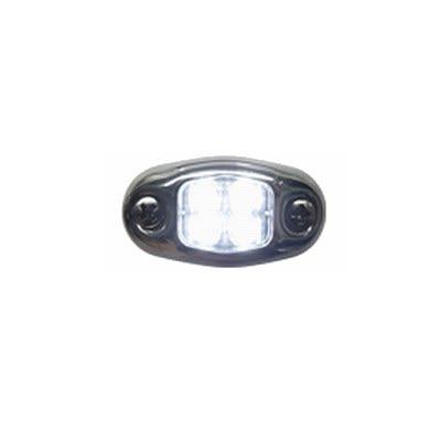 2 Mile LED Stainless Steel Rectangular Transom Mount Navigation Light for Boats