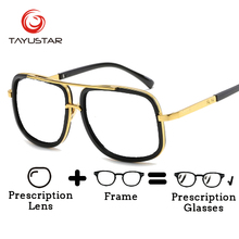 Optical Glasses for Men Plus Size Women Polarized Sunglasses Personality Vintage Oversize Prescription 6663
