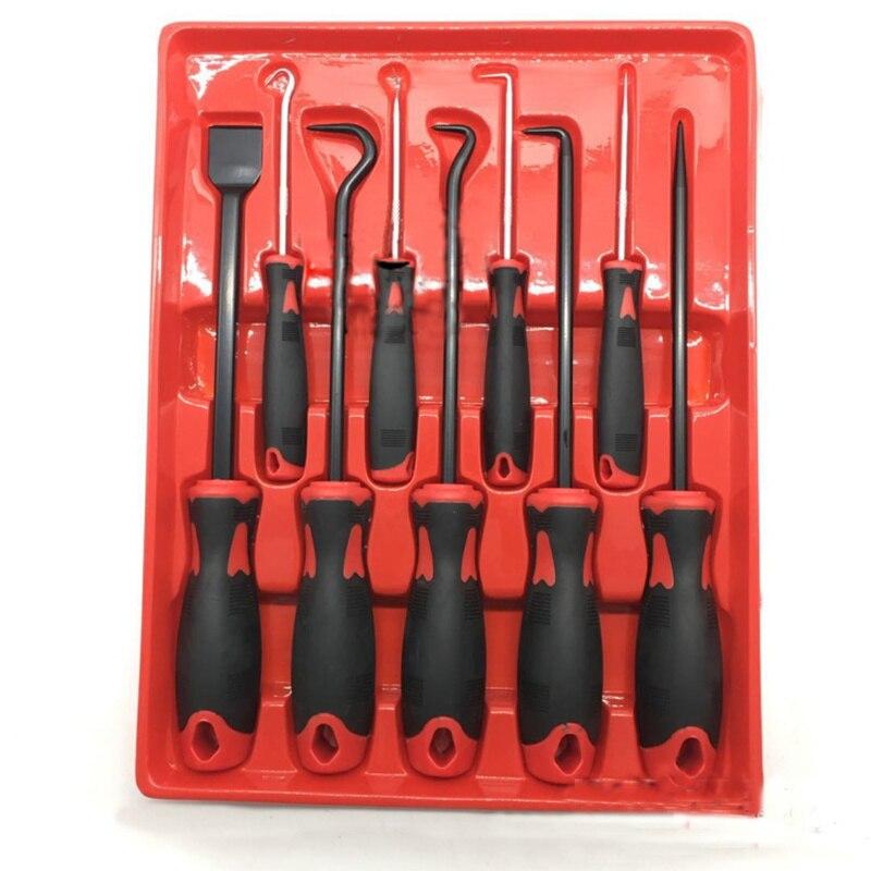 9pcs Scraper Pick & Hook Set O Ring Oil Seal Puller Screwdriver Removal Tool