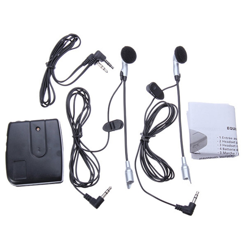 2 Way Intercom for Motorbike Motorcycle Helmet Headset Communication Moto System Interphone Helmet Bluetooth Headset Earphone(China)
