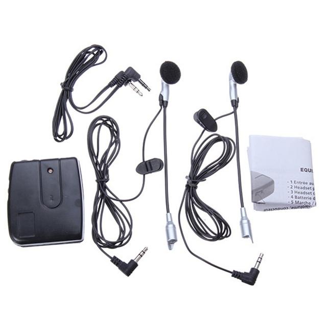 Frete Grátis Motocicleta Capacete Headset 2 way Intercom Sistema de Comunicação Útil