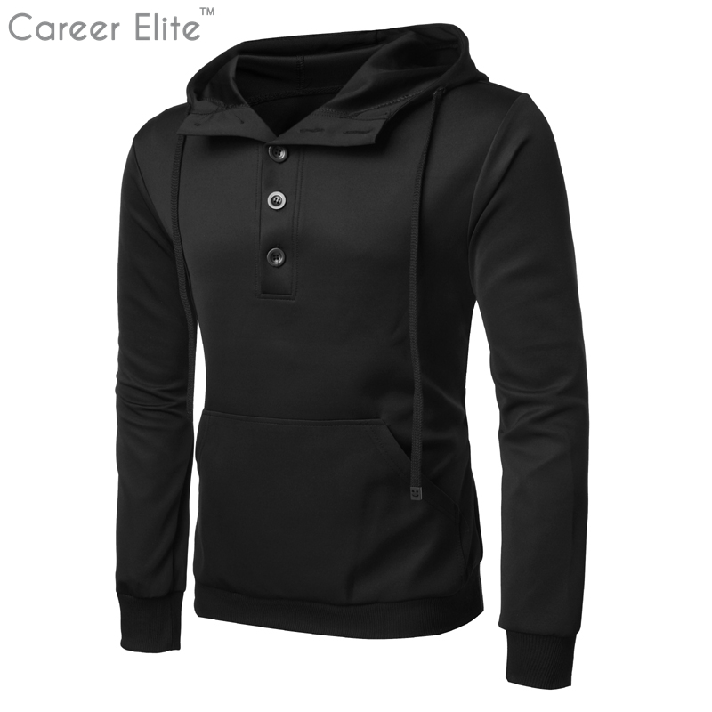 Clothes 2018 Tops New Brand Hoodies Streetwear Hip Hop Black Gray Navy Blue Hoodie Men H ...