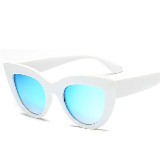 3cf008e36d 2018 New Cat Eye Women Sunglasses Tinted Color Lens Men Vintage Shaped Sun  Glasses Female Eyewear