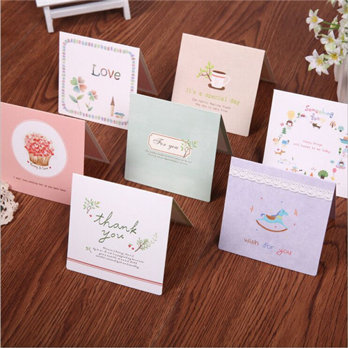 Korean birthday greeting card cute little mini card Wedding Thank ...