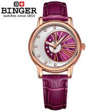 Мода Кварцевые Часы Бингер Наручные Часы Дамы Женщины Одеваются Часы Люксовый Бренд Наручные Часы Часы Montre Reloj Mujer Relogio