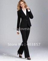 Черный Для женщин костюм Для женщин Бизнес костюм 490
