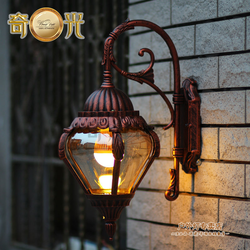 Painted aluminum europe outdoor wall lamp american style ...