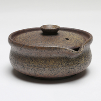130ML Japanese style Ceramic Coarse Pottery Gaiwan Office Tea Ceremony Vintage Teaware Grasping Pot Tieguanyin Puer Tea Teapot