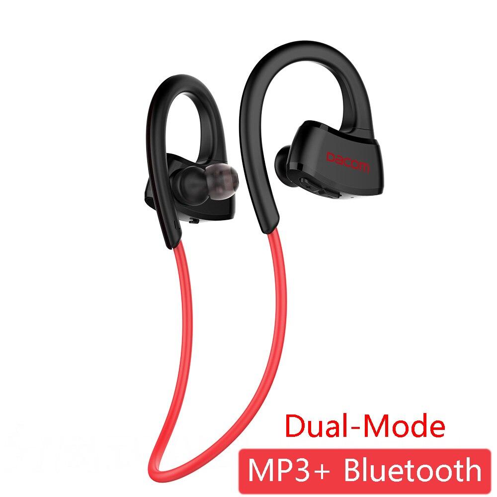 DACOM P10 Plus Dual-режим наушники встроенный MP3-плееры Беспроводной гарнитура <font><b>Bluetooth</b></font> IPX7 Водонепроницаемый стерео наушники с 512 МБ