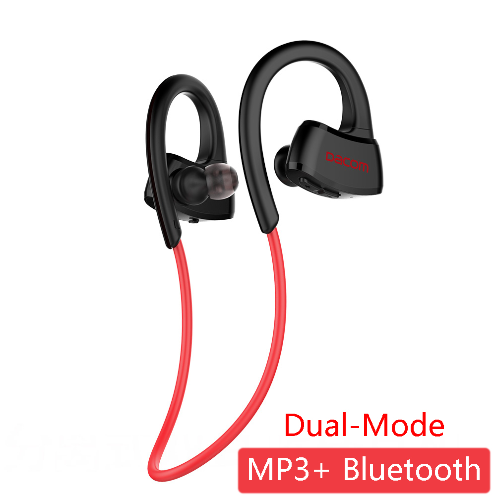 DACOM P10 Plus Dual-Mode Earphone Built-in MP3 Player Wireless Bluetooth Headset IPX7 Waterproof Stereo Headphones with 512MB new dacom carkit mini bluetooth headset wireless earphone mic with usb car charger for iphone airpods android huawei smartphone