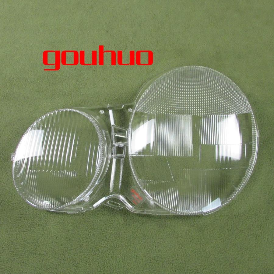 For 02 08 Mercedes Benz W210 E200 E240 E260 E280 Headlight Cover Transparent Shell Headlamp Shell Lampshade Glass 2PCS