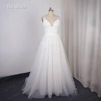 Свадебное платье на бретельках с 3D цветами на заказ