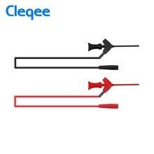 Cleqee P1511B 2 мм Гнездовой разъем для внутреннего пружинного тестового крючка AWG тестовый комплект может подключить цифровой мультиметр зонда