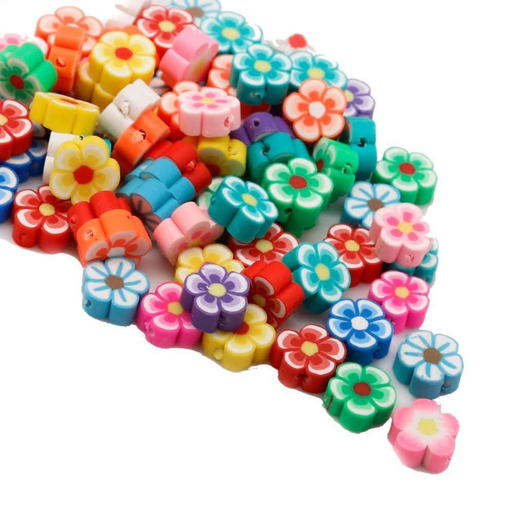 25 stücke Herz Verschiedene Farben Polymer Fimo Ton Spacer Perlen Zur Herstellung Von Halskette Armband Ohrring DIY Zubehör Schmucksachen