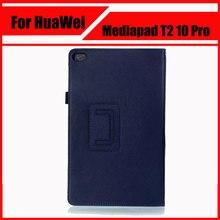 Cuero de la pu case cubierta para huawei mediapad t2 10.0 pro tablet pc case para huawei t2 fdr-a01w fdr-a03l 10.1 + pantalla protectores
