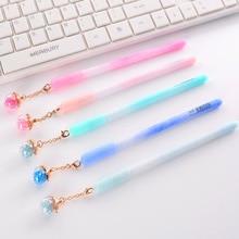 Случайная 5 шт. новый Южнокорейский творческий съемный подвесной серебристых гелевая ручка иглы пера 0.5 мм черный ручка