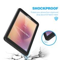 "waterproof rain For Samsung Galaxy Tab A2 Case 10.5"" T590 Tablet Waterproof Case Underwater Case Rain Snow DustProof Protective Slim Sport Cover (3)"