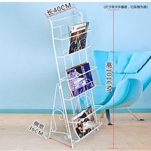 Shelves Magazine-Rack Newspaper Advertising-Display Iron Stand-Shelf Type 101x40x30cm