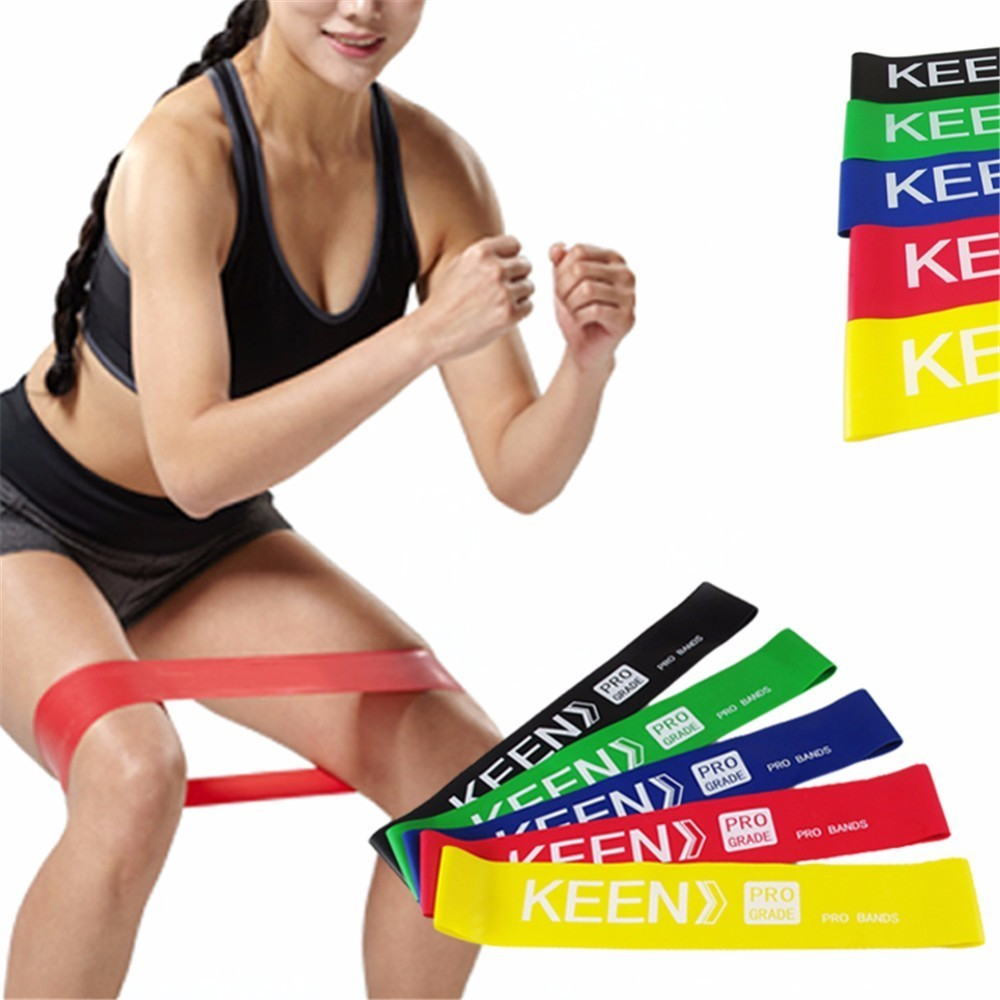 Pilates Resistance Bands Exercises Rubber Elastic Fitness Training Yoga Loop Band Workout Pull Up Rope Fitness Equipment