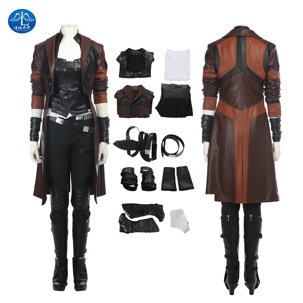 ManLuYunXiao Guardians of The Galaxy 2 Cosplay Costume Women Gamora Cosplay Costume For Halloween Women Full Set Custom Made