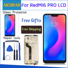 AICSRAD LCD display For Xiaomi Mi A2 Lite 5.84 inch touch screen digitizer assembly For Xiaomi Redmi 6 Pro Frame With Free Tools