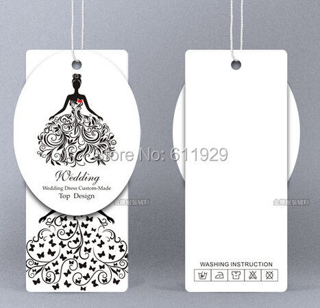 Customized clothing hang tag/wedding dress tags/clothing labels