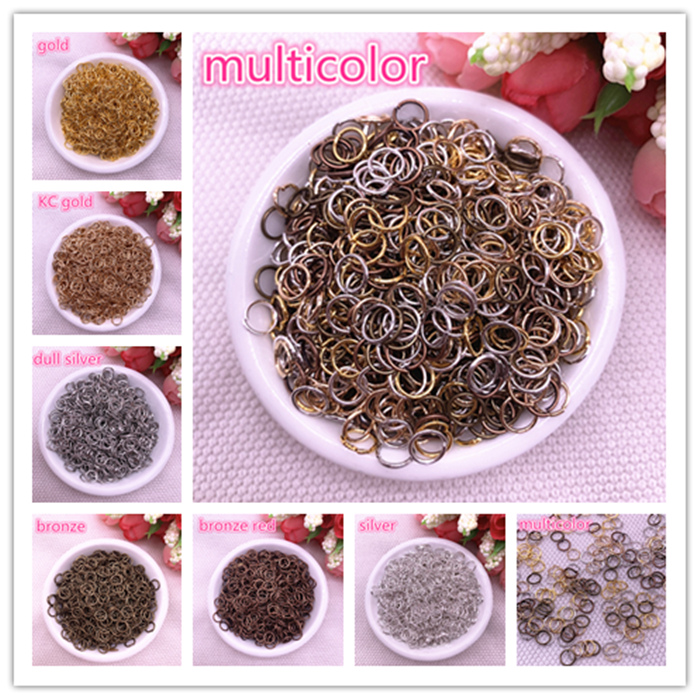 4/6/8mm Jump Ring Single Loop Open Jump Rings Split Rings For Jewelry Necklace Bracelet Chain Connector Findings Connector