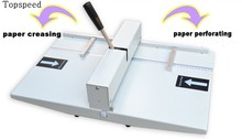 2019 New Hand Paper Creasing Machine and Perforating Machine 2 in 1 Combo 340mm